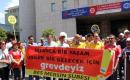 Mersinde Bes Üyeleri Bir Günlük İş Bırakma Eylemi Yaptı
