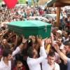 MERSİN'DE TERÖR PROTESTOSUNDA ÖLDÜRÜLEN GENÇ TOPRAĞA VERİLDİ