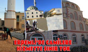 ERDEMLİ'DE CAMİLERE HİZMETTE SINIR YOK
