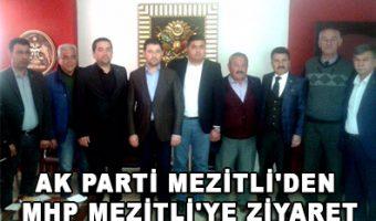AK Parti Mezitli'den MHP Mezitli'ye ziyaret