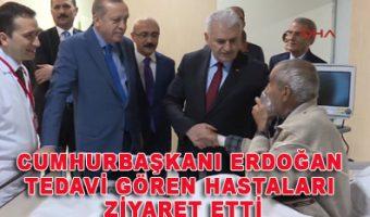 Mersin - Cumhurbaşkanı Erdoğan tedavi gören hastaları ziyaret etti