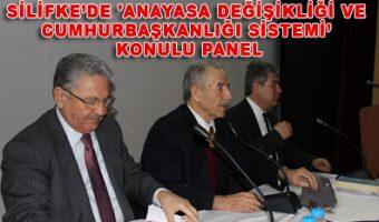 Silifke'de 'Anayasa Değişikliği ve Cumhurbaşkanlığı Sistemi' konulu panel